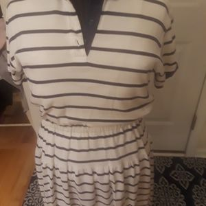 Sports dress  navy  and  white n